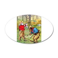 Roosevelt Bears as Cowboy Hunters 22x14 Oval Wall
