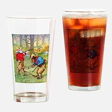 Roosevelt Bears as Cowboy Hunters Drinking Glass