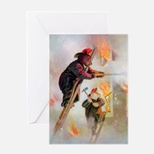 Roosevelt Bears as Firefighters Greeting Card