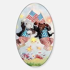 Roosevelt Bears Get Patriotic Sticker (Oval)