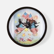 Roosevelt Bears Get Patriotic Wall Clock
