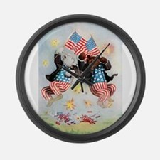Roosevelt Bears Get Patriotic Large Wall Clock