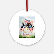 Roosevelt Bears Get Patriotic Ornament (Round)