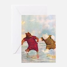 Roosevelt Bears on the Jersey Shore Greeting Card