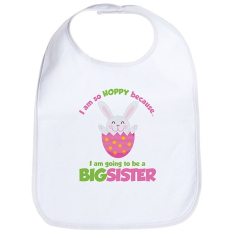 Easter Bunny going to be a Big Sister Bib
