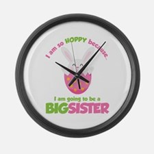 Easter Bunny going to be a Big Sister Large Wall C