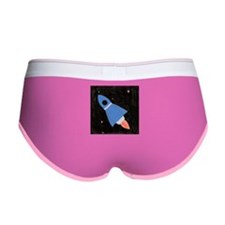 Blue Rocket Ship in Outer Spa Women's Boy Brief