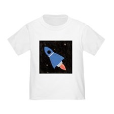 Blue Rocket Ship in Outer Spa T