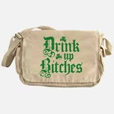 Drink Up Bitches Funny Irish Messenger Bag