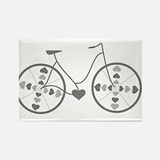 Cute Mountain biking Rectangle Magnet (10 pack)