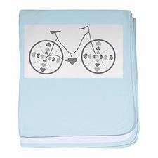 Cute Biking baby blanket