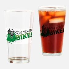 Mountain biking Drinking Glass