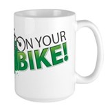 Mountain biking Large Mugs (15 oz)