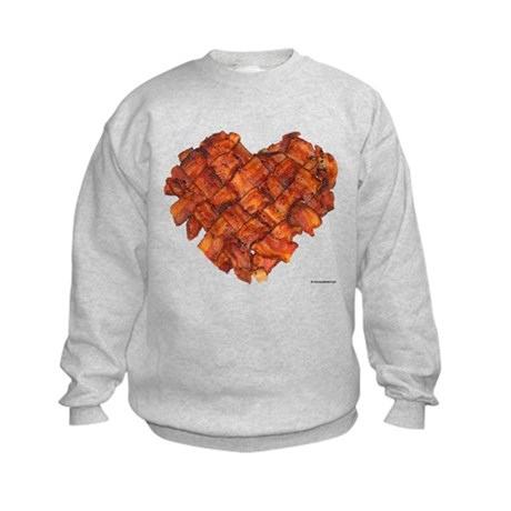 Bacon Heart - Kids Sweatshirt