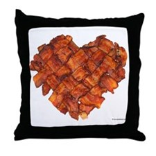 Bacon Heart - Throw Pillow