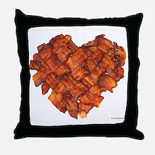 Bacon Heart - Throw Pillow