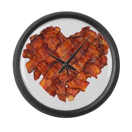 Bacon Heart - Large Wall Clock