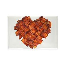 Bacon Heart - Rectangle Magnet
