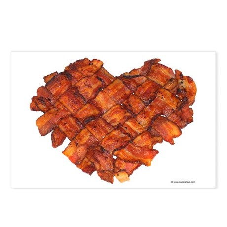 Bacon Heart - Postcards (Package of 8)