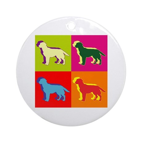 Labrador Retriever Silhouette Pop Art Ornament (Ro