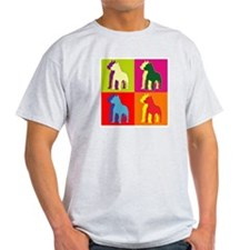 Pitbull Terrier Silhouette Pop Art T-Shirt