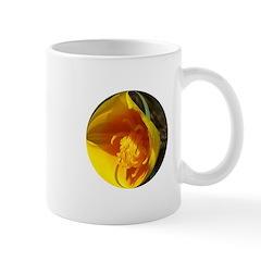 Golden Poppy Flower Mug