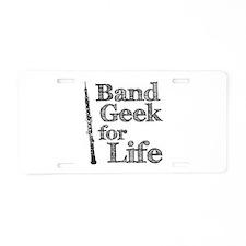 Oboe Band Geek Aluminum License Plate