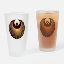 Angel Crop Circle Drinking Glass