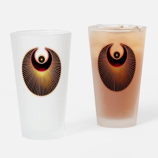 Angel Crop Circle Drinking Glass