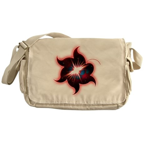 Flower Mandala Crop Circle Messenger Bag