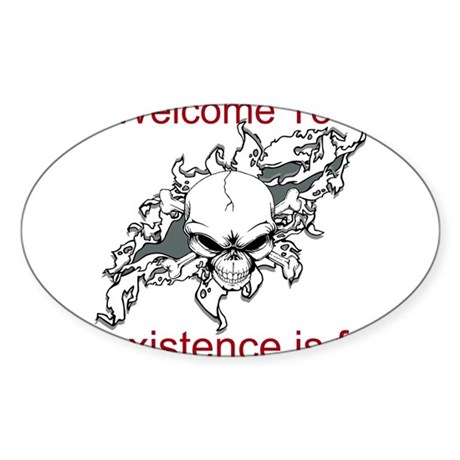 Existence Is Futile Sticker (Oval)
