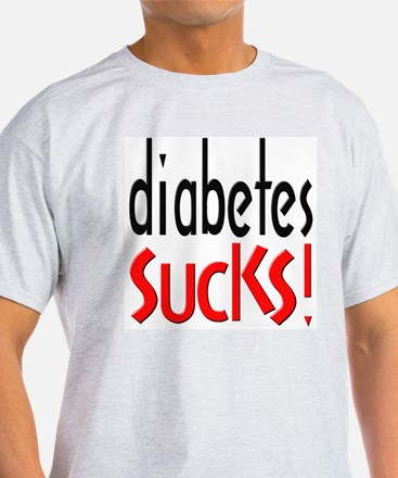 Diabetes Sucks Ash Grey T-Shirt