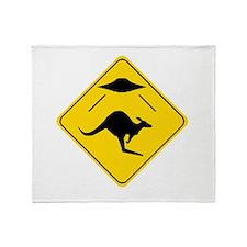 Kangaroo Abduction Throw Blanket