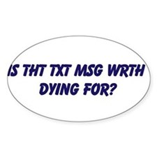 TXT MSG DRIVING Decal