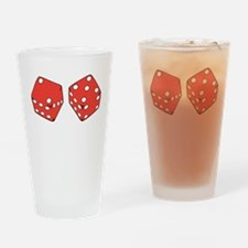 Lucky Seven Dice Drinking Glass