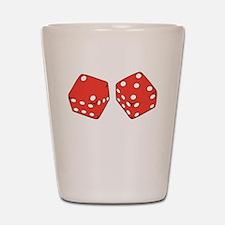Lucky Seven Dice Shot Glass
