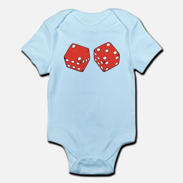 Lucky Seven Dice Infant Bodysuit