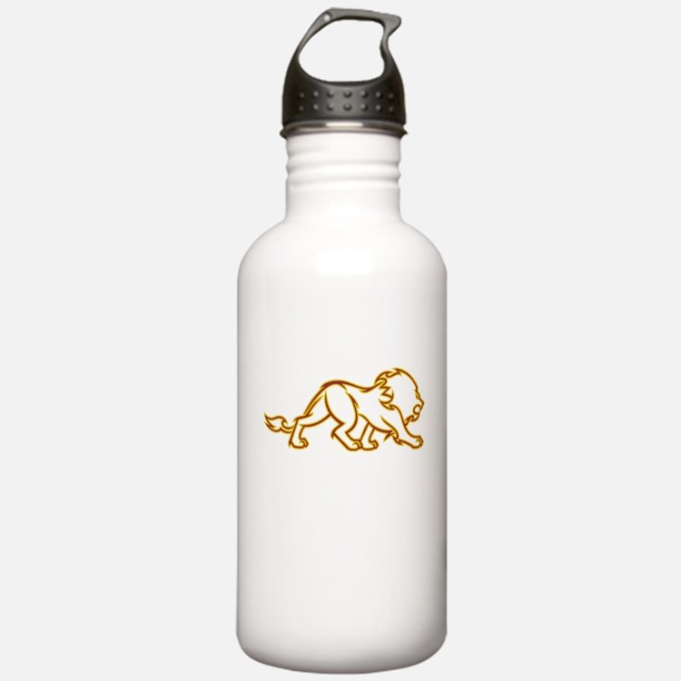 Fire Lion Water Bottle