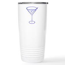 Blue Martini Glass Travel Mug