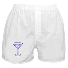 Blue Martini Glass Boxer Shorts