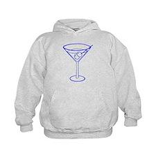 Blue Martini Glass Hoodie