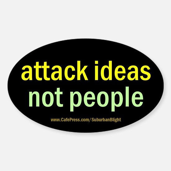 """""""Attack Ideas"""" Sticker (Oval)"""