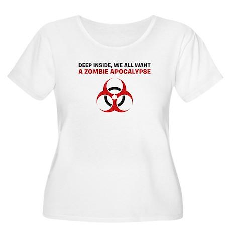 Zombie Apocalypse Women's Plus Size Scoop Neck T-S