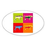 Pointer Silhouette Pop Art Sticker (Oval 10 pk)