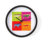 Pointer Silhouette Pop Art Wall Clock