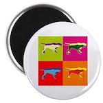 Pointer Silhouette Pop Art Magnet