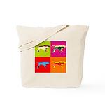 Pointer Silhouette Pop Art Tote Bag