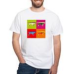 Pointer Silhouette Pop Art White T-Shirt