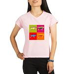 Pointer Silhouette Pop Art Performance Dry T-Shirt
