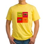 Pointer Silhouette Pop Art Yellow T-Shirt